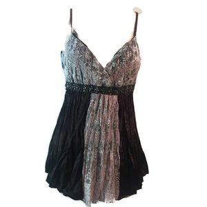 Vanity Cami with lace and silky like material XS